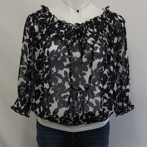 Madison Paige sheer top size M